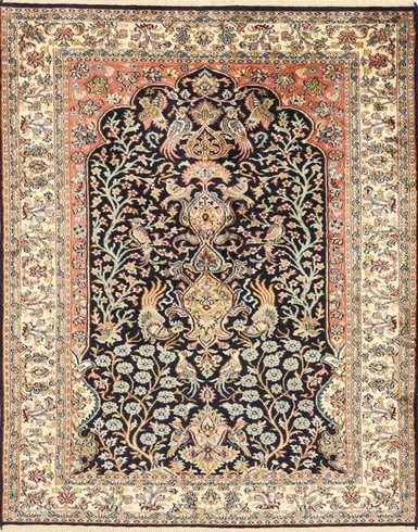 Kashmir Pure Silk Carpet (3 x5) ft Hand knotted