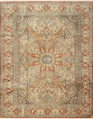 Kashmir Pure Silk Carpet (6 x 9) ft Hand knotted