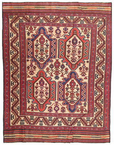 Kilim Golbarjasta  4 x 6 ft unique woven by hand