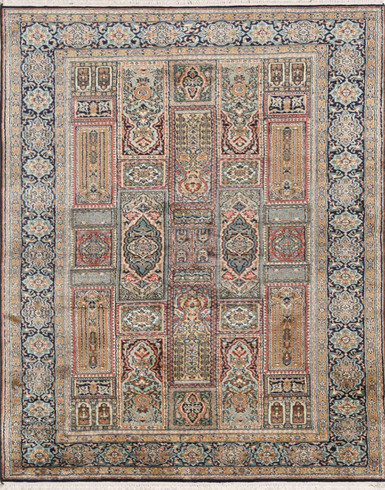 Kashmir pure silk 3 x 5 ft Hand knotted