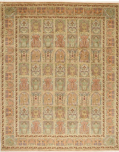 Kashmir pure silk 8 x 10 ft Hand knotted