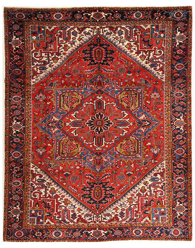 Afshar 8 x 11 ft unique knotted by hand