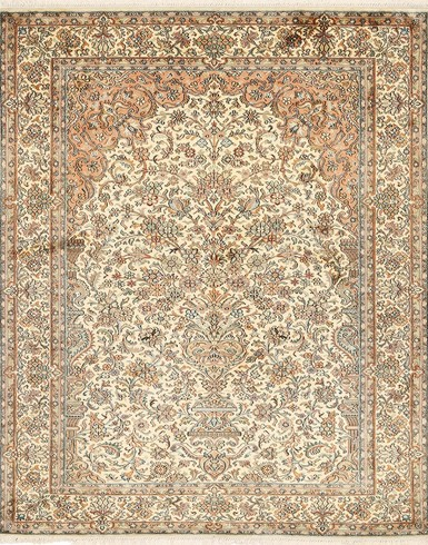 Kashmir pure silk 4 x 6 ft Hand knotted