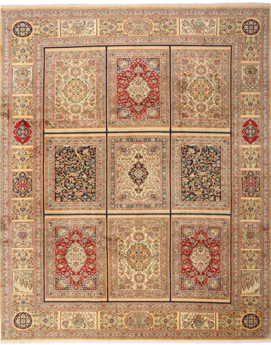 Kashmir pure silk 8 x 11 ft hand knotted