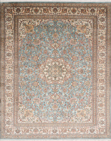 Kashmir pure silk 5 X 7 FT Hand knotted