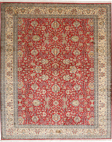 Kashmir pure silk  7 X 10 FT Hand knotted