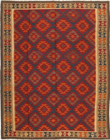 Kilim Maimane 9x12 ft unique woven by hand