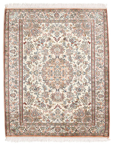 Kashmir pure silk (Red & Grey Carpet) 3 X 5 FT Hand knotted
