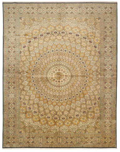 Kashmir pure silk (Yellow Carpet) 6 X 9 FT Hand knotted