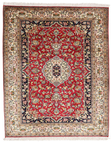 Kashmir pure silk (Red, Yellow & Blue Carpet) 3 X 5 FT Hand knotted